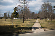 A view of the grounds at the Tomah VA Facility in Tomah, Wisconsin, Tuesday, April 24, 2018.