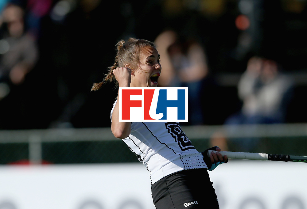 JOHANNESBURG, SOUTH AFRICA - JULY 10:  Lisa Altenburg of Germany celebrates their equalising goal during day 2 of the FIH Hockey World League Semi Finals Pool A match between Germany and Ireland at Wits University on July 10, 2017 in Johannesburg, South Africa.  (Photo by Jan Kruger/Getty Images for FIH)