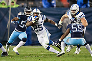 NASHVILLE, TN - DECEMBER 30:  Marlon Mack #25 of the Indianapolis Colts runs the ball during a game against the Tennessee Titans at Nissan Stadium on December 30, 2018 in Nashville, Tennessee.  The Colts defeated the Titans 33-17.   (Photo by Wesley Hitt/Getty Images) *** Local Caption *** Marlon Mack