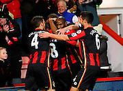 AFC Bournemouth midfielder Harry Arter celebrates his goal with his team mates during the Barclays Premier League match between Bournemouth and West Ham United at the Goldsands Stadium, Bournemouth, England on 12 January 2016. Photo by Graham Hunt.