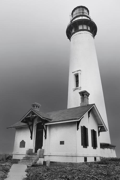 Pigeon Point Lighthouse - Black & White
