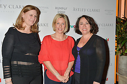 Left to right,  SARAH BROWN, BEC ASTLEY CLARKE and ARABELLA WEIR at a party to celebrate the Astley Clarke & Theirworld Charitable Partnership held at Mondrian London, Upper Ground, London on 10th March 2015.