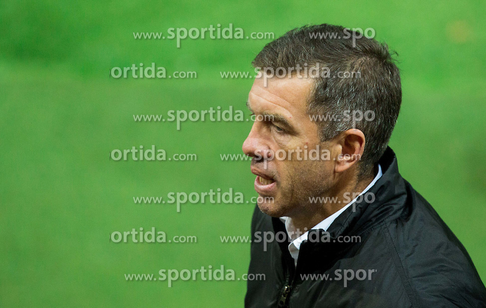 Srecko Katanec, head coach of Slovenia during the EURO 2016 Qualifier Group E match between Slovenia and Lithuania, on October 9, 2015 in SRC Stozice, Ljubljana Slovenia. Photo by Vid Ponikvar / Sportida