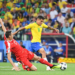Philippe Coutinho of Brazil during the FIFA World Cup Group E match between Serbia and Brazil on June 27, 2018 in Moscow, Russia. (Photo by Anthony Dibon/Icon Sport)