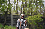 "La Shawn Banks sings a tune during rehearsal for William Shakespeare's ""Twelfth Night"" at American Players Theatre in Spring Green, WI on Thursday, May 16, 2019."
