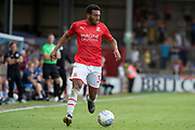 Keshi Anderson of Swindon Town during the EFL Sky Bet League 2 match between Scunthorpe United and Swindon Town at Sands Venue Stadium, Glanford Park, Scunthorpe, England on 3 August 2019.