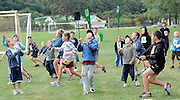 Cricket Fans look to catch the ball at the National Bank's Cricket Super Camp , University oval, Dunedin, New Zealand. Thursday 2 February 2012 . Photo: Richard Hood photosport.co.nz