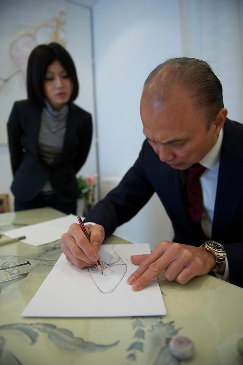 Uk Jimmy Choo In His London Studio Fashion Designer Mark Makela