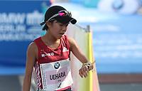 Miyuki Uehara (JPN) im Zieleinlauf des BMW Berlin Marathon 2018 in Berlin am 16.09.2018