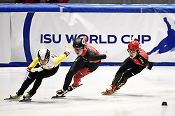 February 9, 2019 - Torino, Italia - Foto LaPresse/Nicolò Campo .9/02/2019 Torino (Italia) .Sport.ISU World Cup Short Track Torino - Ladies 1500 meters Semifinals .Nella foto: Jinyu Li (d)..Photo LaPresse/Nicolò Campo .February 9, 2019 Turin (Italy) .Sport.ISU World Cup Short Track Turin - Ladies 1500 meters Semifinals.In the picture: Jinyu Li  (Credit Image: © Nicolò Campo/Lapresse via ZUMA Press)