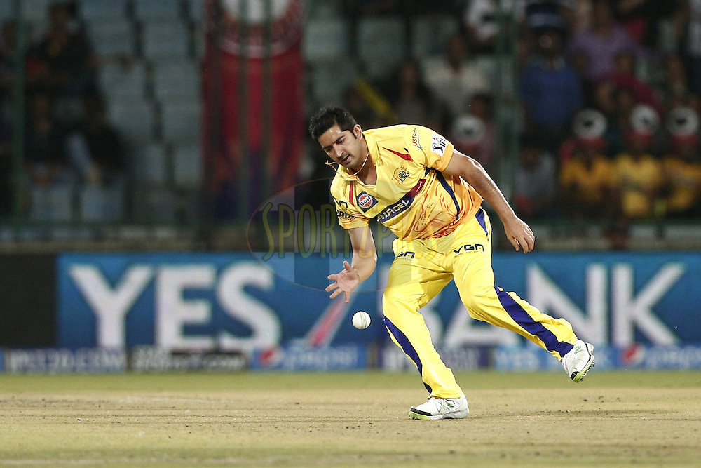 Mohit Sharma of The Chennai Superkings in action during match 26 of the Pepsi Indian Premier League Season 2014 between the Delhi Daredevils and the Chennai Superkings held at the Ferozeshah Kotla cricket stadium, Delhi, India on the 5th May  2014<br /> <br /> Photo by Deepak Malik / IPL / SPORTZPICS<br /> <br /> <br /> <br /> Image use subject to terms and conditions which can be found here:  http://sportzpics.photoshelter.com/gallery/Pepsi-IPL-Image-terms-and-conditions/G00004VW1IVJ.gB0/C0000TScjhBM6ikg