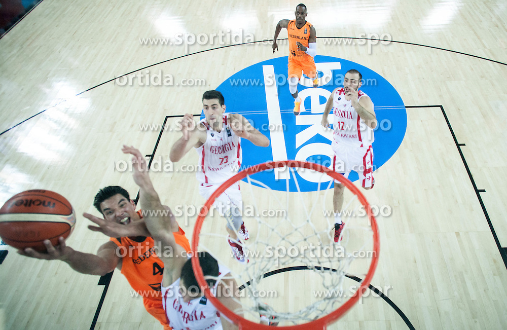 Arvin Slagter of Netherlands during basketball match between Georgia and Netherlands at Day 1 in Group C of FIBA Europe Eurobasket 2015, on September 5, 2015, in Arena Zagreb, Croatia. Photo by Vid Ponikvar / Sportida