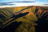 France, Languedoc Roussillon, Gard, Lozère, Cevennes, Mont Aigoual, vue aérienne