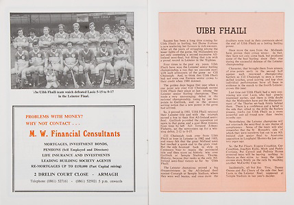 All Ireland Senior Hurling Championship Final,.Galway Vs Offaly,Offaly 2-11, Galway 1-12,.01.09.1985, 09.01.1985, 1st September 1985,.01091985AISHCF,..M W Financial Consultants, .