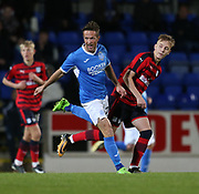 06/10/2017 - St Johnstone v Dundee - Dave Mackay testimonial at McDiarmid Park, Perth, Picture by David Young - Dundee's Jack Lambert and St Johnstone's Chris Millar