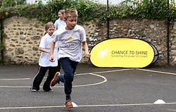 Children play cricket based games during the Chance to Shine National Cricket week - Mandatory by-line: Robbie Stephenson/JMP - 22/06/2016 - FOOTBALL - Winsham Primary/Avishayes Community Primary - Chard, United Kingdom  - Chance To Shine - National Cricket Week