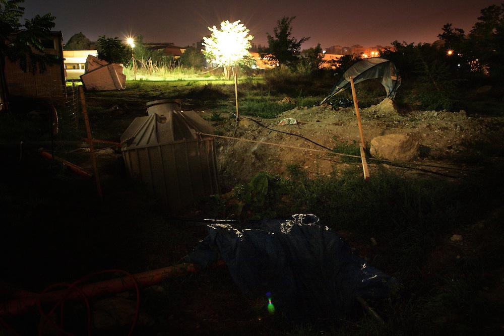 """Alenia Spazio"" shelter camp."