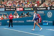 Ajla Tomljanovic (CRO)<br /> <br /> Tennis - Brisbane International 2015 - ATP 250 - WTA -  Queensland Tennis Centre - Brisbane - Queensland - Australia  - 4 January 2015. &copy; Tennis Photo Network