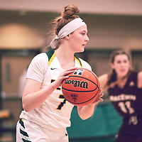 1st year guard, Gabby Kukura (7) of the Regina Cougars during the Women's Basketball Home Game on Fri Nov 30 at Centre for Kinesiology,Health and Sport. Credit: Arthur Ward/Arthur Images