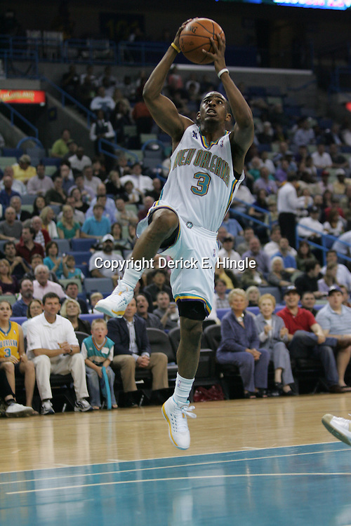 Hornets guard, Chris Paul heads in for a lay-up against the Washington Wizards on February 25, 2008 at the New Orleans Arena in New Orleans, Louisiana. The New Orleans Hornets lost 95-92 to the Washington Wizards.  .