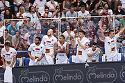 Esultanza panchina Venezia, Dolomiti Energia Trentino vs Umana Reyer Venezia LBA Serie A Playoff Finale gara 6 stagione 2016/2017 Pala Trento, Trento 20 giugno 2017