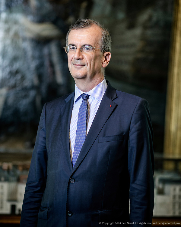 6  July  2017 &ndash; Paris, France<br /> Fran&ccedil;ois Villeroy de Galhau, the governor of Bank of France (Banque de France) poses for a portrait.