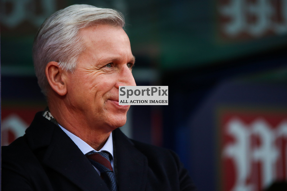 Alan Pardew During Crystal Palace vs Swansea on Monday the 28th December 2015.