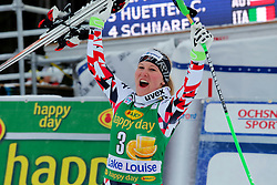 06.12.2015, East Summit Course, Lake Luise, CAN, FIS Weltcup Ski Alpin, Lake Luise, 2nd placed Tamara Tippler of Austria reacts, im Bild Tamara Tippler (AUT, 2. Platz) // Tamara Tippler of Austria during the race of ladies Super G of the Lake Luise FIS Ski Alpine World Cup at the East Summit Course in Lake Luise, Canada on 2015/12/06. EXPA Pictures © 2015, PhotoCredit: EXPA/ SM<br /> <br /> *****ATTENTION - OUT of GER*****