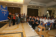 Milano, 18/07/2007<br /> Basket, Nazionale Italiana Maschile Senior<br /> Media Day Conferenza Stampa Hotel Visconti<br /> Nella foto: panoramica<br /> Foto Ciamillo