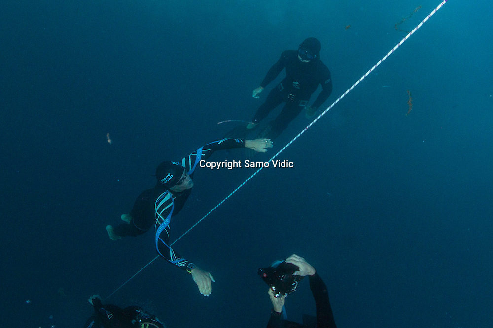 William Trubridge of New Zealand at Dean`s Blue Hole, Bahamas, 21 November 2012<br /> Photo: Samo Vidic