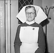24/01/1962.01/24/1962.24 January 1962.Distribution of prizes to nurses at Childrens Hospital, Temple Street, Dublin. Nurse Josephine Wallace, Kilfinane, Co. Limerick who won the Kavanagh Gold Medal for all-round nurse of 1961.