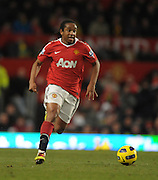 Anderson in action during the Barclays Premier League match between Manchester United and Blackburn Rovers at Old Trafford on November 27, 2010 in Manchester, England.