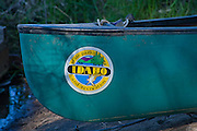 Front end of a rentable canoe in an Idaho state park. PLEASE CONTACT US FOR DIGITAL DOWNLOAD AND PRICING.