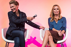 © Licensed to London News Pictures. 11/10/2018. London, UK. Emma Willis and Amanda Holden in conversation at the Festival of Marketing held at Tobacco Dock. Photo credit: Ray Tang/LNP