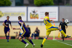 Haber Dobrovoljc of NK Domzale during football match between NK Domzale and NK Maribor in Round #32 of Prva liga Telekom Slovenije 2017/18, on May 9, 2018 in Sports park Domzale, Domzale, Slovenia. Photo by Urban Urbanc / Sportida