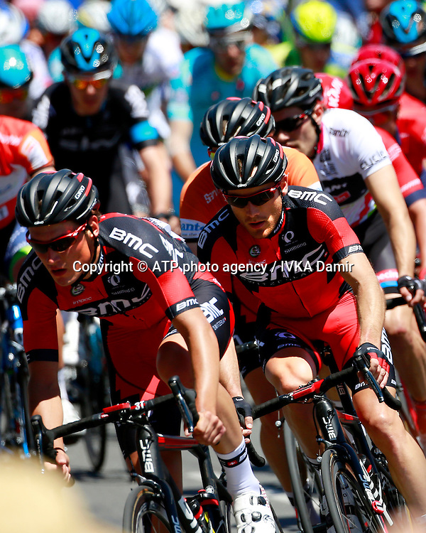 2015 Santos Tour Down Under. Adelaide. Australia.Sunday 25.1.2015. Stage 6. Adelaide Street Circuit.90km<br /> #7 Rohan DENNIS (AUS) BMC Racing Team is the Overtall Tour Winner.<br /> © ATP / Damir IVKA<br />  - Tour Down Under Australia 2015, Cycling, road race, Radrennen, Australien -  Radsport - Rad Rennen -<br /> - fee liable image: copyright © ATP - IVKA Damir