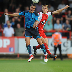 TELFORD COPYRIGHT MIKE SHERIDAN 7/8/2018 - Ryan Sears of AFC Telford during the National League North fixture between Kidderminster Harriers FC vs AFC Telford United.