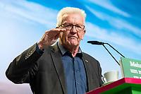 16 NOV 2019, BIELEFELD/GERMANY:<br /> Winfried Kretschmann, B90/Gruene, Ministerpraesident Baden-Wuerttemberg, haelt eine Rede, Bundesdelegiertenkonferenz Buendnis 90 / Die Gruenen, Stadthalle<br /> IMAGE: 20191116-01-046<br /> KEYWORDS: Parteitag, Bundesparteitag, Party congress, BDK; Die Grünen
