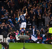 4th September 2017, Hampden Park, Glasgow, Scotland; World Cup Qualification, Group F; Scotland versus Malta; Scotland's Leigh Griffiths  celebrates after scoring for 2-0