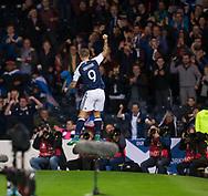 4th September 2017, Hampden Park, Glasgow, Scotland; World Cup Qualification, Group F; Scotland versus Malta; Scotland's Leigh Griffiths  celebrates after scoring for 2-0