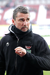 """28.01.2012, SGL Arena, Augsburg, GER, 1. FBL, FC Augsburg vs 1. FC Kaiserslautern, 19. Spieltag, im Bild Trainer Marco KURZ (Kaiserslautern) nachdenklich // during the football match of the german """"Bundesliga"""", 19th round, between FC Augsburg and 1. FC Kaiserslautern, at the SGL Arena, Augsburg, Germany on 2012/01/28. EXPA Pictures © 2012, PhotoCredit: EXPA/ Eibner/ Peter Fastl..***** ATTENTION - OUT OF GER *****"""