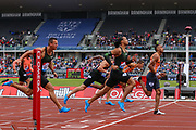 Men's 110m Hurdles, Heat 2 during the Muller Grand Prix 2018 at Alexander Stadium, Birmingham, United Kingdom on 18 August 2018. Picture by Toyin Oshodi.
