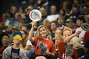 Fans cheer on the Zags during Kraziness in the Kennel Saturday, October 12, 2013 at McCarthey Athletic Center. (Photo by Rajah Bose)