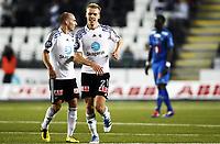 Fotball , 25. september 2011 , Tippeligaen , Eliteserien<br /> Odd - Tromsø 3-1<br /> <br /> Jone Samuelsen og Steffen Hagen , Odd jubler for scoring - 3-1<br /> <br /> Foto: Anders Hoven , Digitalsport