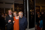Richard Eyre; Mariella Frostrup; Mike Leigh, The London Critics' Circle Film Awards 2009 in aid of the NSNCC. Grosvenor House Hotel . Park Lane. London. 4 February 2009