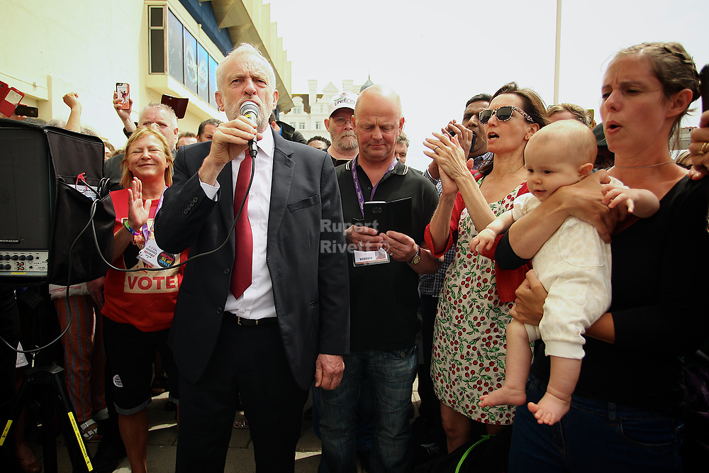 Jeremy Corbyn gives a speech at the Unison Conference and out side to the local Corbanistas   Jeremy Corbyn gives a speech at the Unison Conference Jeremy Corbyn at the Unison Conference.