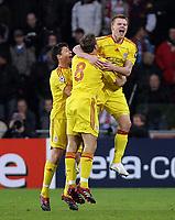 Foto Omega/GPA<br /> Eindhoven 03/04/2007<br /> Champions League 2006-2007<br /> Psv Eindhoven-Liverpool 0-3<br /> Nella foto John Arne Riise esulta dopo il gol