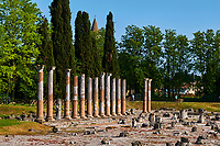 Italie, Frioul-Venetie Julienne, Aquilée, Forum romain // Italy, Friuli Venezia Aquilee, Aquileia, Roman forum