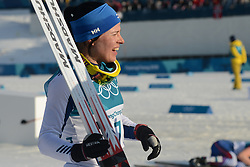 February 25, 2018 - Pyeongchang, South Korea - KRISTA PARMAKOSKI of Finland after finishing second in the Ladies' 30km Mass Start Classic cross-country ski racing event in the PyeongChang Olympic Games. (Credit Image: © Christopher Levy via ZUMA Wire)