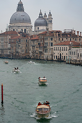 A view of Santa Maria della Salute commonly known simply as the Salute on the Grand Canal in Venice. From a series of travel photos in Italy. Photo date: Sunday, February 10, 2019. Photo credit should read: Richard Gray/EMPICS